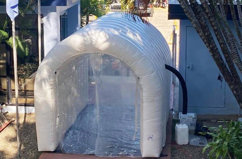 Instalan Oficinas Coraaplata Tunel Desinfecta Covid