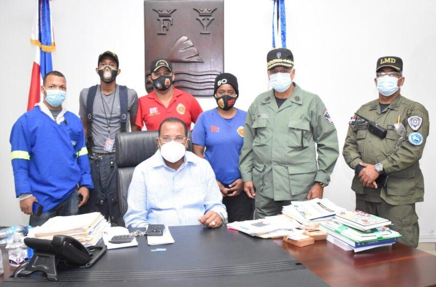 Director Seguridad LMD Visita Alcalde Roquelito Garcia
