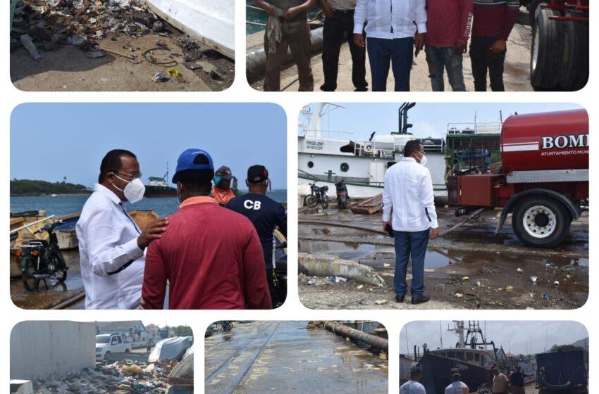 Realizan Operativo Limpieza Zona Portuaria Puerto Plata