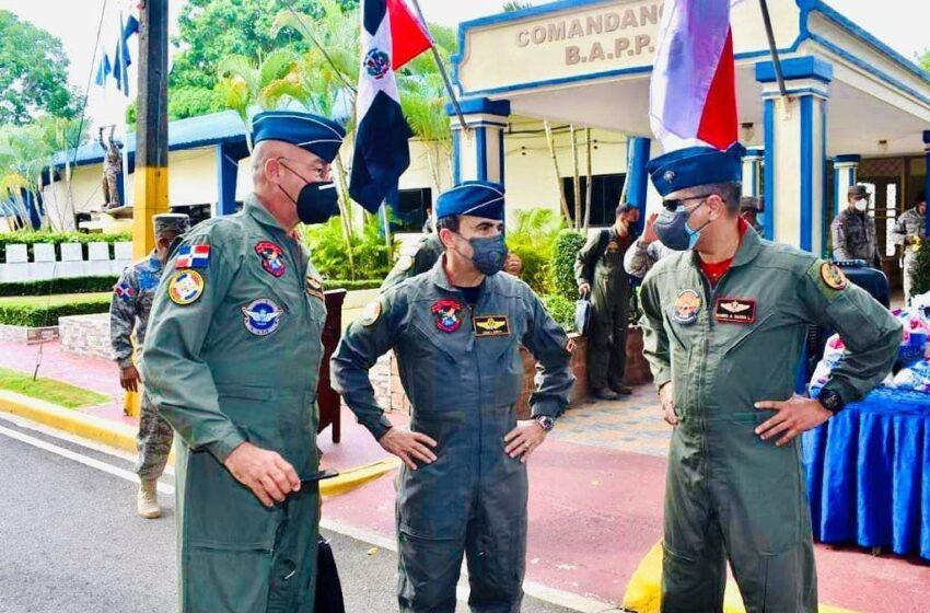 Altos Mandos Inspeccionan Base Aerea Puerto Plata