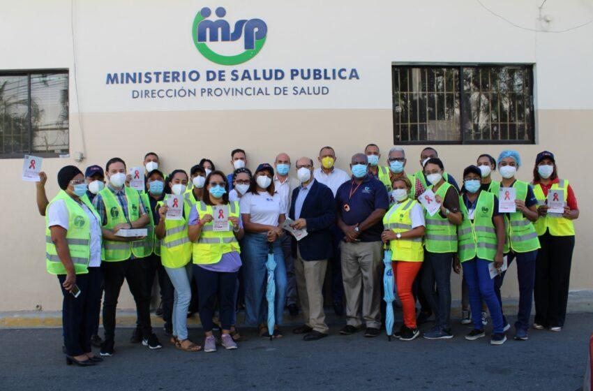 Autoridades Ministerio Salud Pública Realizan Jornada Prevención VIH-Sida en Puerto Plata