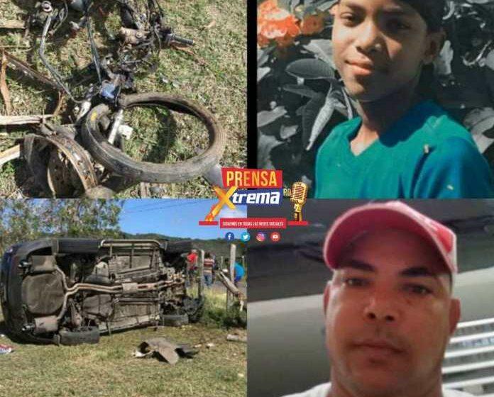 Padre e Hijo Mueren Accidente Tránsito Ocurre Municipio Villa Isabela