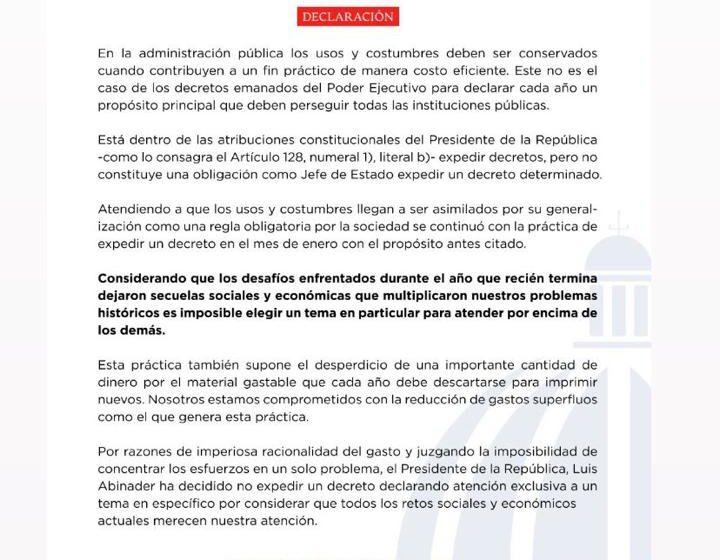 Presidente Abinader Crea Normativa para Expedición Nuevos Decretos