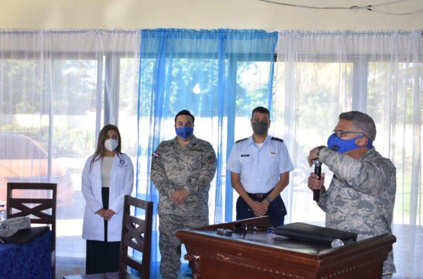 Ofrecen Charlas COVID-19 Personal Militar Base Aérea Puerto Plata