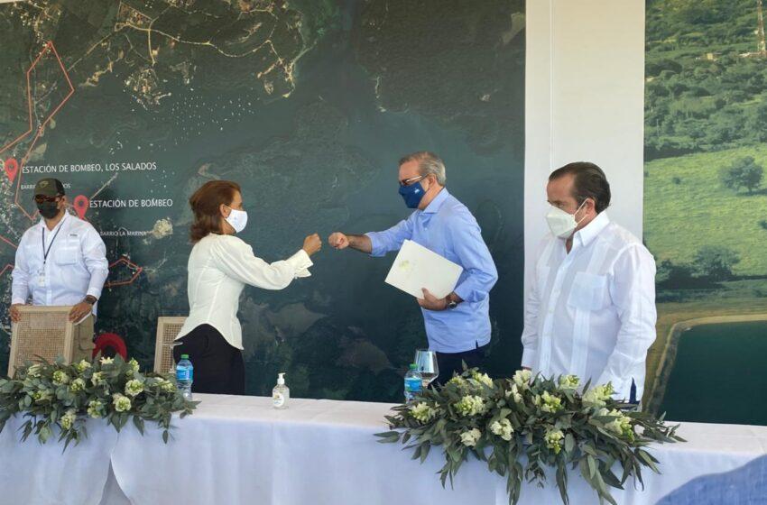 Presidente Abinader Deja Inaugurada Planta Tratamiento Aguas Residuales Municipio Luperón