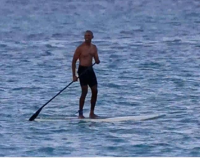 Ex Presidente Estados Unidos Barack Obama Vacaciona Isla Hawaii