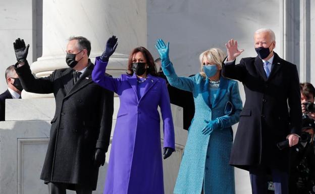 Presidente Abinader Felicita Joe Biden, Vicepresidenta Kamala Harris