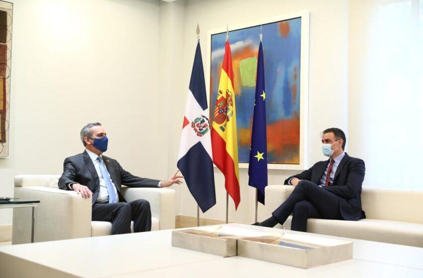 Abinader Celebra Encuentro Presidente Gobierno Español Pedro Sanchez
