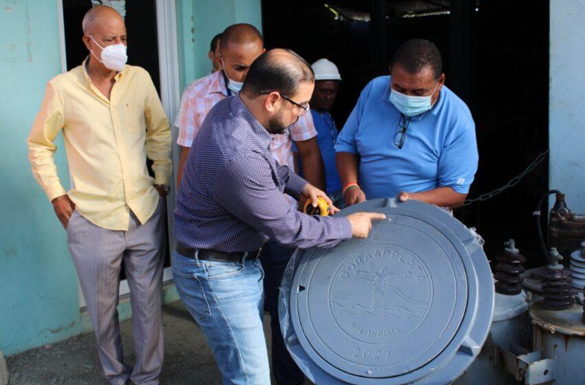 La CORAAPPLATA Instala Tapas Polímero Registros Sanitarios Puerto Plata